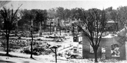 Photo of the Great Fire of 1922 Courtesy of the New Bern Fire Museum
